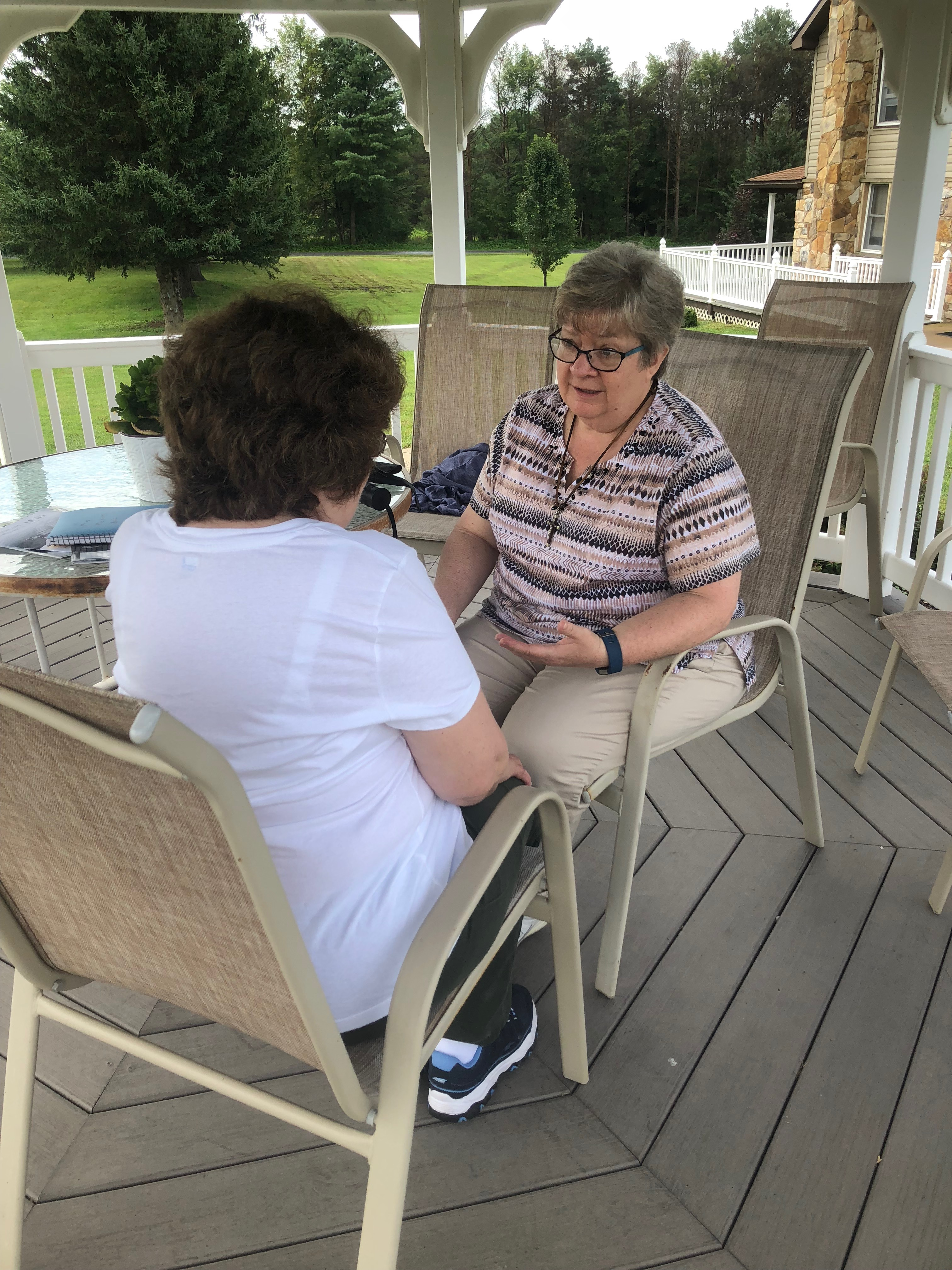 Sr. Ruth Ann meets for Spiritual Direction